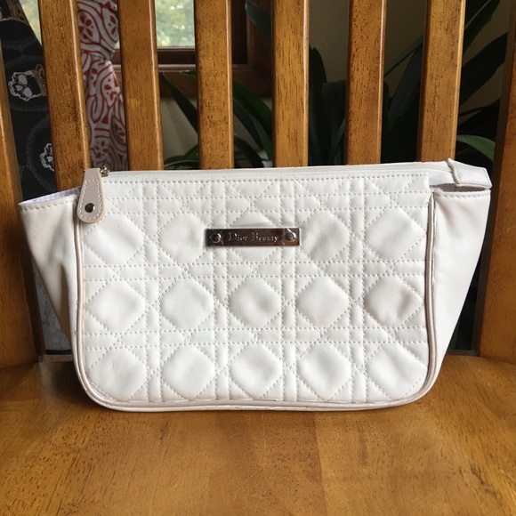 Dior Handbags - Dior Beauty White quilted cosmetic bag